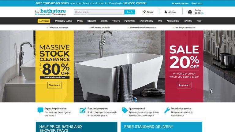 Bathstore website