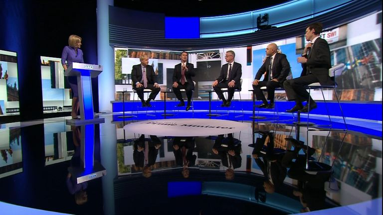 Leadership contender Rory Stewart decided to take his tie off during the televised debate