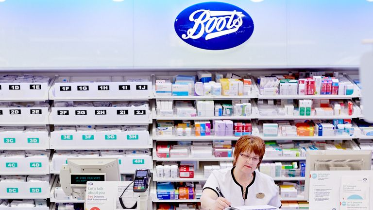 Boots has almost 2,500 stores in the UK