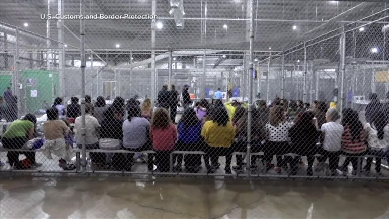 The cells are often full of children. Pic: US Custom and Border Protection. Pic: ABC