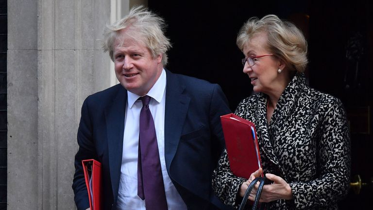 Boris Johnson and Andrea Leadsom