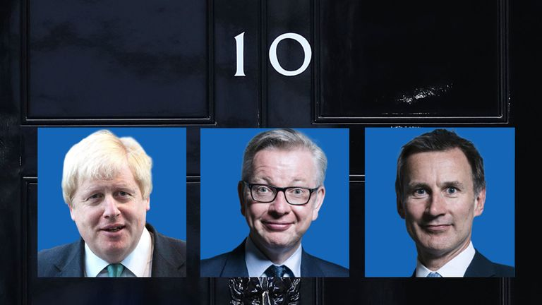 Three candidates remain in the running to be the next prime minister