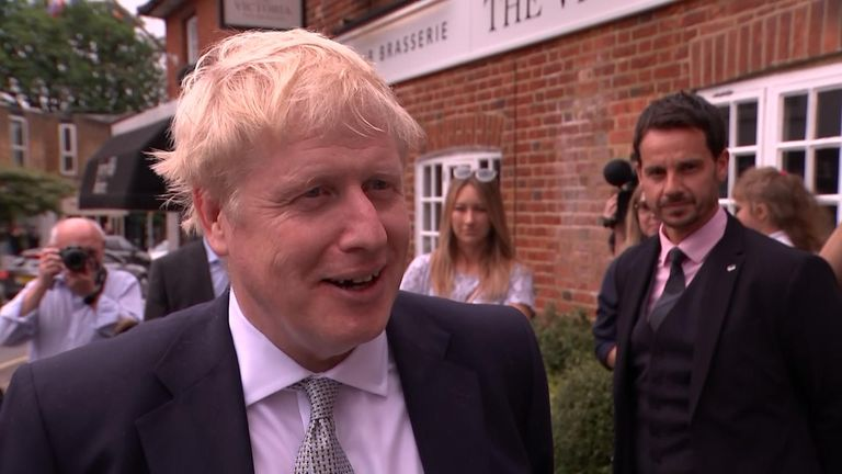 Boris Johnson in Oxshott