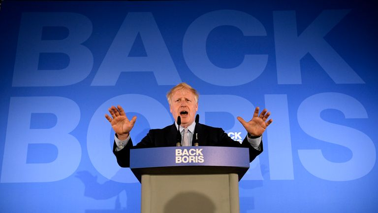 Boris Johnson launches his Conservative Party leadership campaign