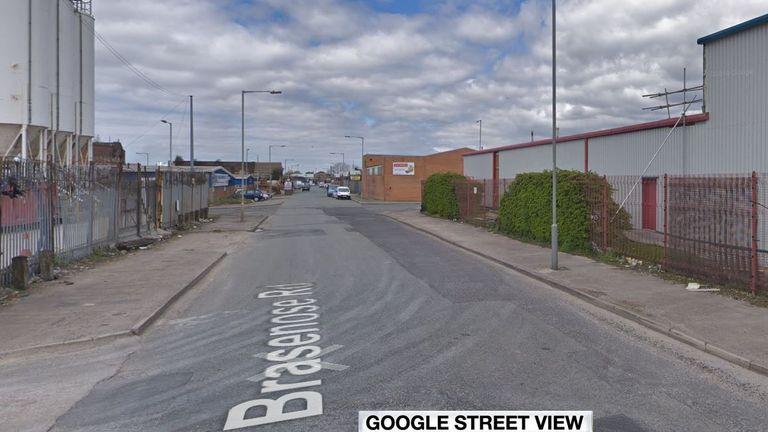 The horrific discovery of the dog's body was made in Brasenose Road, Bootle