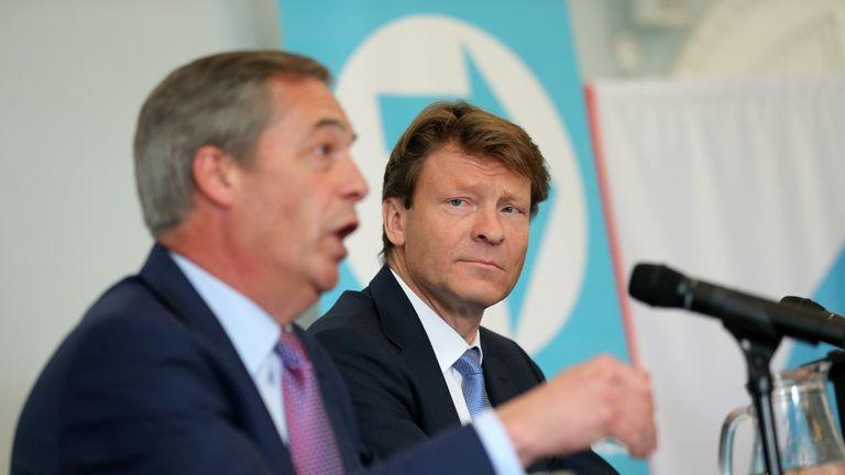 Nigel Farage (left) and Richard Tice