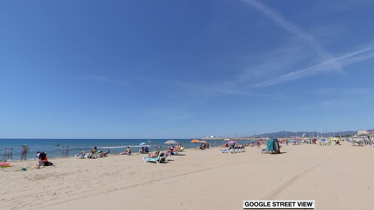 The British tourist died off Regueral Beach in Cambrils