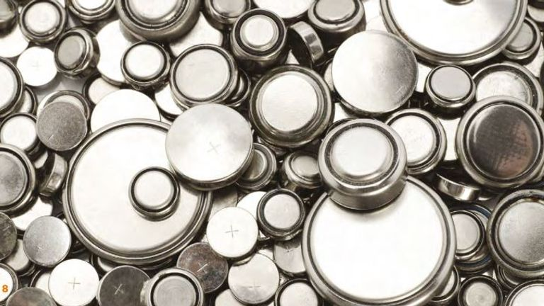 Button batteries and coin cell batteries. Pic: HSIB