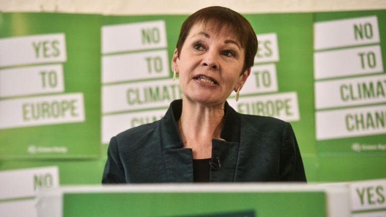 Caroline Lucas has accused Michael Gove of 'rank hypocrisy'