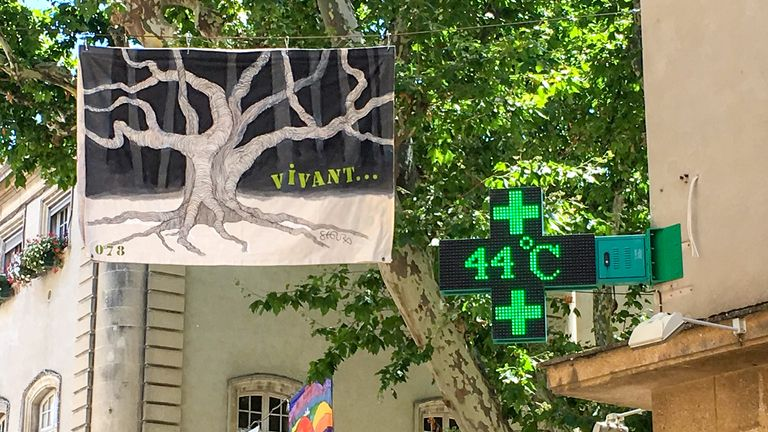 The record-breaking temperature was recorded in Carpentras, Vaucluse