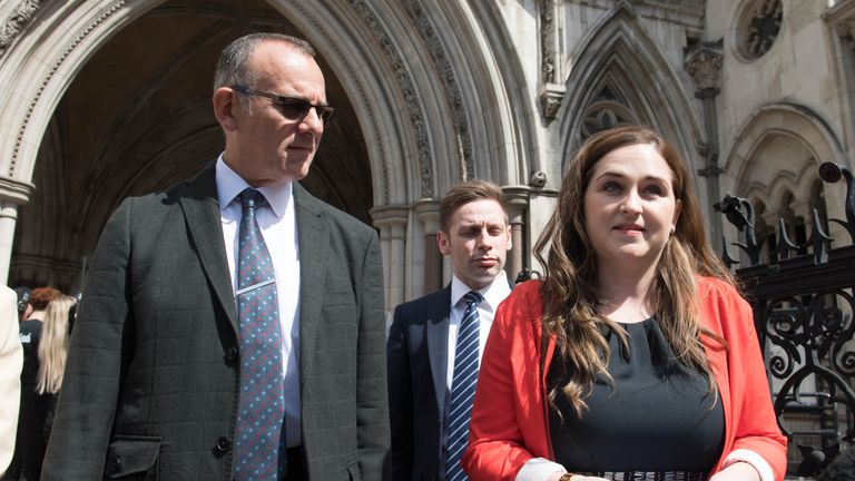 Charlotte Brown's father Graham and sister Katie speak outside court