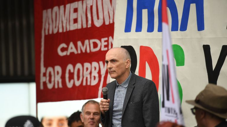 Chris Williamson MP outside at a meeting of the Labour National Executive Committee in London