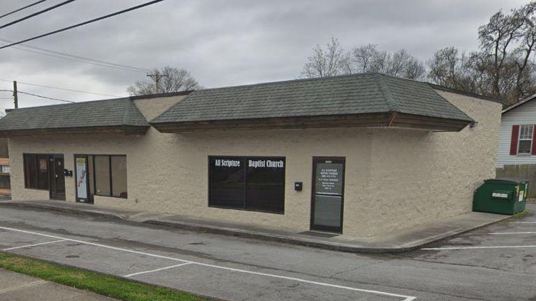 The All Scripture Baptist Church, where Mr Fritt's gives sermons