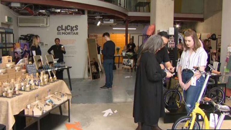 The first 'Clicks and Mortar' store in Manchester's St Mary's Gate includes cosmetics and scooter retailers