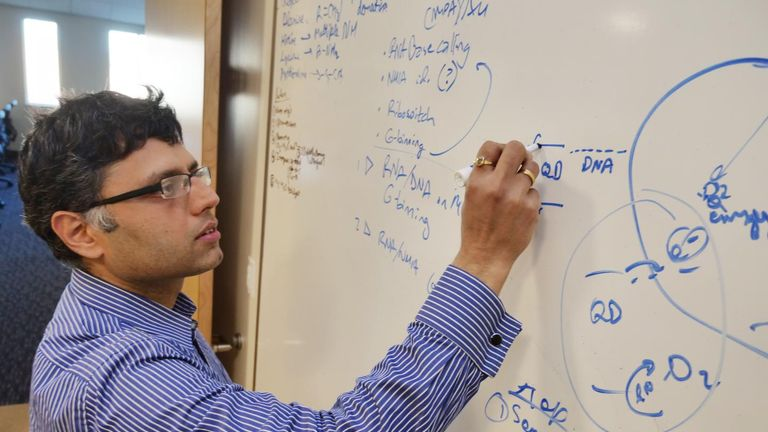 University of Colorado Boulder Assistant Professor Prashant Nagpal. Pic: Casey Cass