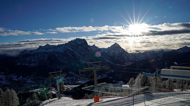 Most alpine skiing events will take place in the resort of Cortina.