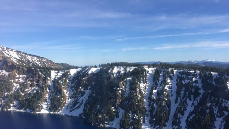 The man fell 800 feet into a caldera in Crater Lake National Park