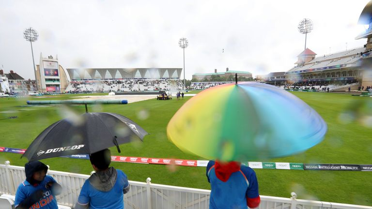 India's match against New Zealand was the fourth Cricket World Cup fixture to be abandoned because of rain