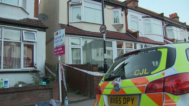 The woman was found with multiple stab wounds
