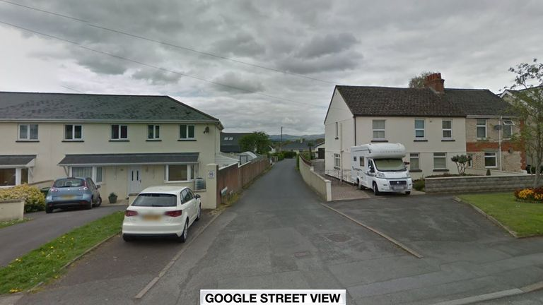 The victim was found at a property in Chockland Road, Kingsteignton