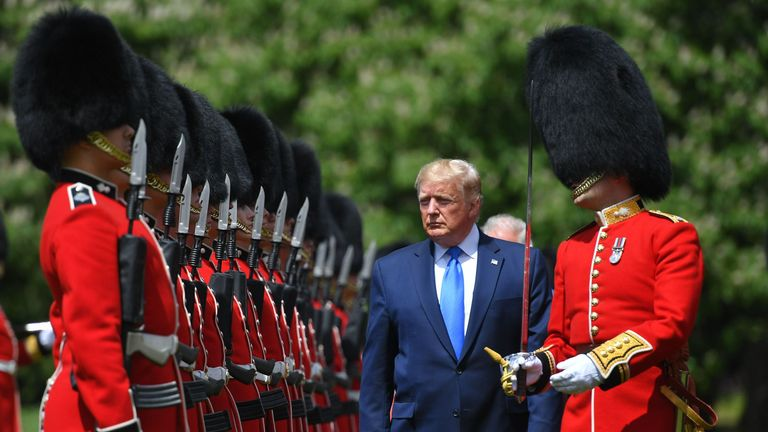 The US leader is in the UK for three days and will enjoy a full state banquet