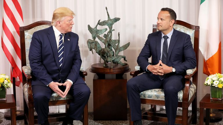 Mr Trump compared his US-Mexico border plans with the Brexit border debate in Ireland