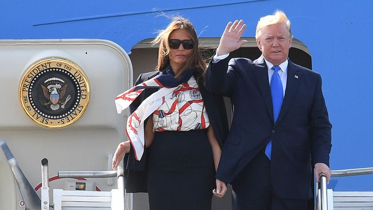 President Trump is in the UK for a three-day state visit