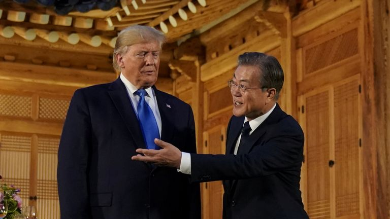 South Korea's president Moon Jae-in said the meeting would be a 'significant milestone'