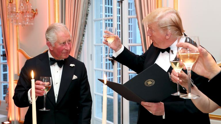 Donald Trump and Prince Charles dine at Winfield House