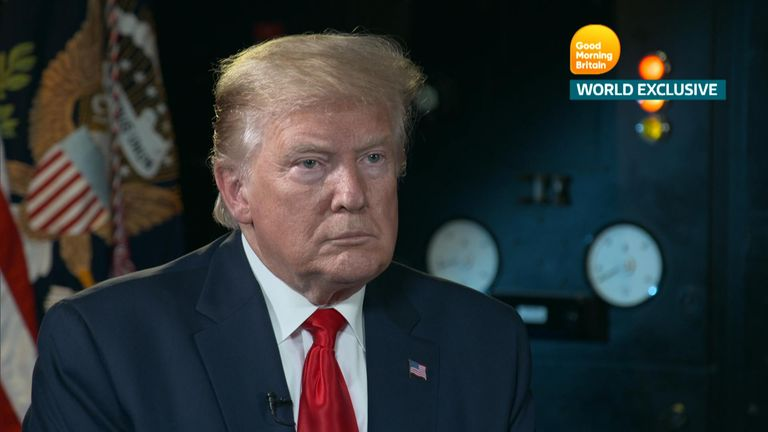President Trump says he would meet Jeremy Corbyn and could do a trade deal with the Labour leader.