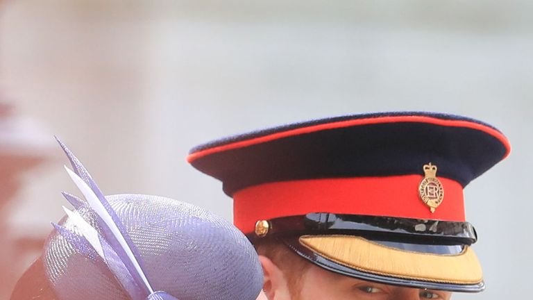 The Duke and Duchess of Sussex attend the Trooping the Colour ceremony to celebrate the Queen's official birthday