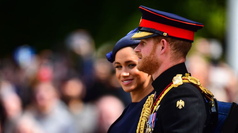 Meghan's reappearance on official duties coincided with president Trump's return to the US