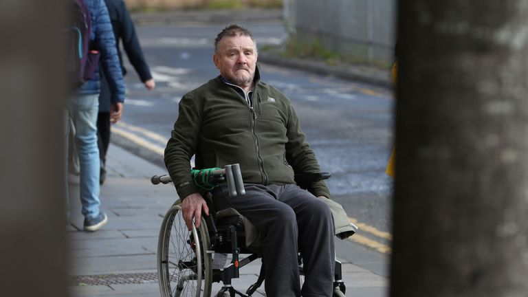Edward Cairney arriving at the High Court in Glasgow