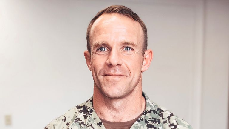 U.S. Navy SEAL Special Operations Chief Edward Gallagher, charged with war crimes in Iraq, is shown in this undated photo provided May 24, 2019