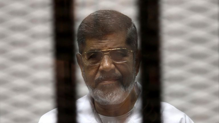 Mohamed Morsi was in custody since his ousting by the military in 2013