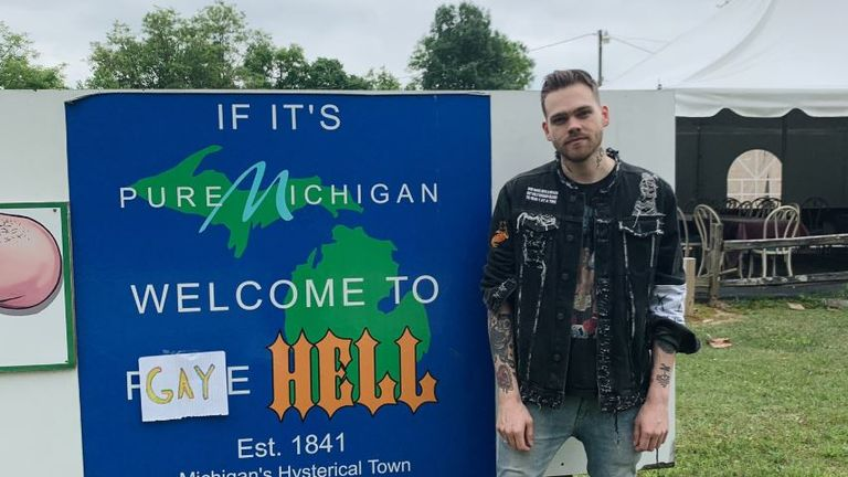 Elijah Daniel bought the town of Hell in Michigan. Pic: @elijahdaniel