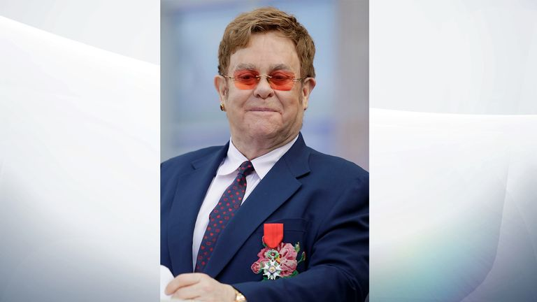 Sir Elton said he was 'proud' to receive the honour