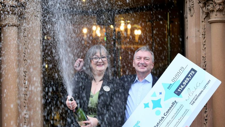 Patrick and Frances Connolly from County Armagh won £114,969,775 on New Year's Day