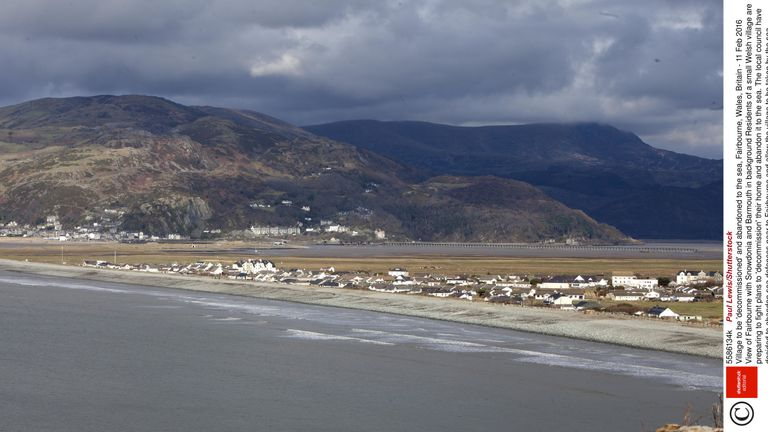 Fairbourne with Snowdonia and Barmouth in the distance