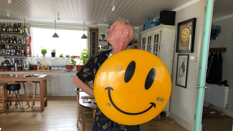 Fatboy Slim is curating an exhibition in Lisbon which features his smiley collection