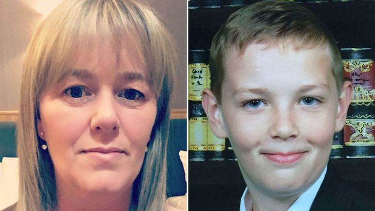 Fiona Gosling's son Cameron died after he jumped into hot water