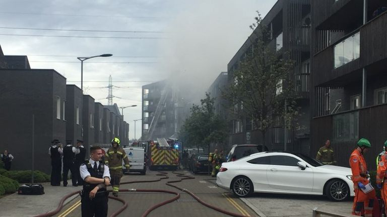 Firefighters said the blaze was under control shortly before 6pm. 