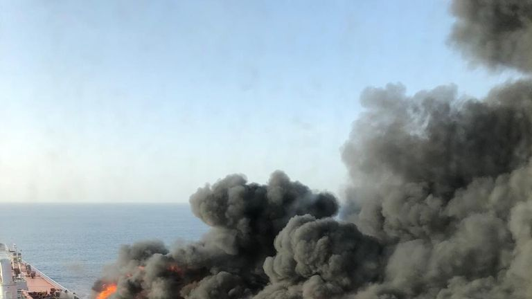 US blames Iran for oil tanker attacks in Gulf of Oman