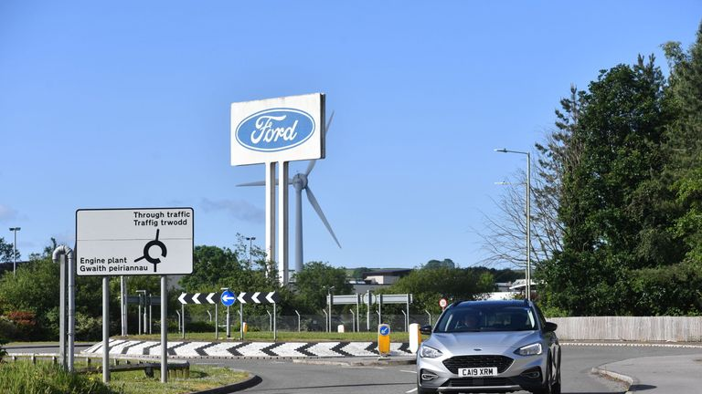 The Ford engine plant near Bridgend, south Wales, following the announcement that it will close in September 2020