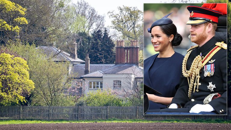 Frogmore Cottage in the grounds of Windsor Castle, the new home of the Duke and Duchess of Sussex. Pic: REX/Shutterstock
