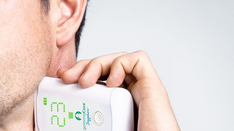 The NHS announced plans to roll out the Gammacore device to patients suffering from cluster headaches. Pic: Electrocore