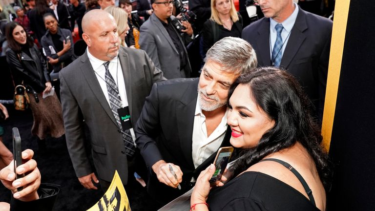 "George Clooney attends the premiere of Hulu's ""Catch-22"" on May 07, 2019 in Hollywood, California"