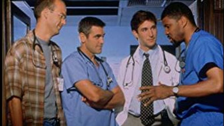 George Clooney found fame in medical drama ER
