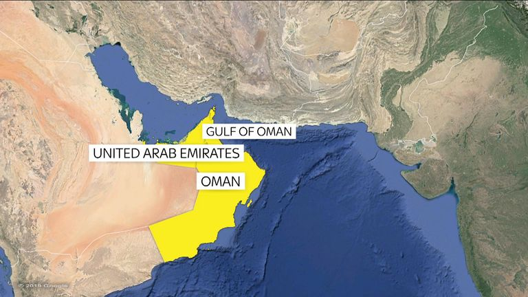 The ships were reportedly attacked in the Gulf of Oman