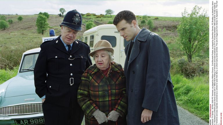 PC Ventress, as played by William Simons ; Enid Blunkett-Forbes, as played by Gwenllian Davies; PC Bradley, as played by Jason Durr.